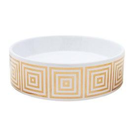 big squares gold painted vessel sink